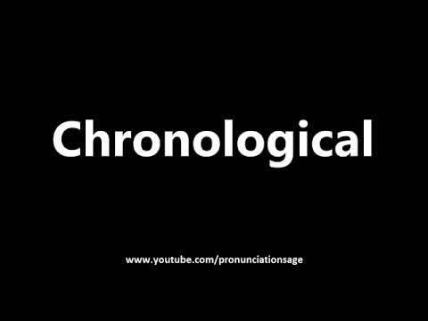 How to Pronounce Chronological