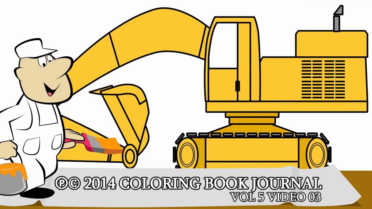 Trucks For Children Cartoon Excavator YouTube