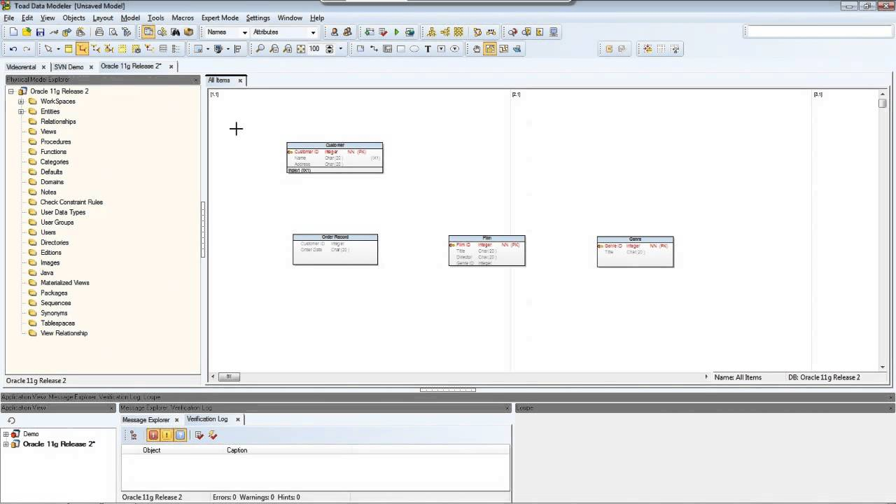 How to create a model in toad data modeler youtube how to create a model in toad data modeler ccuart Gallery