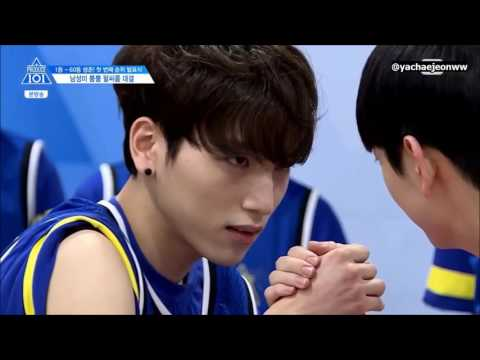 [ENG SUB] PRODUCE101 Season 2 EP.5 | Arm Wrestling Match Cut