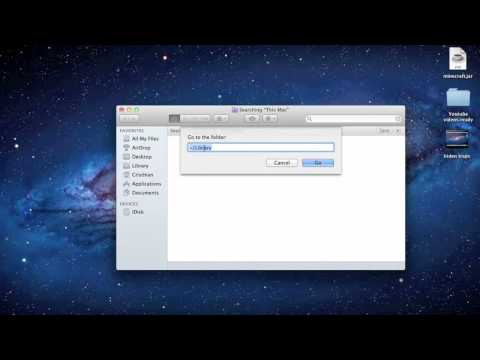 how to open the library folder in mac
