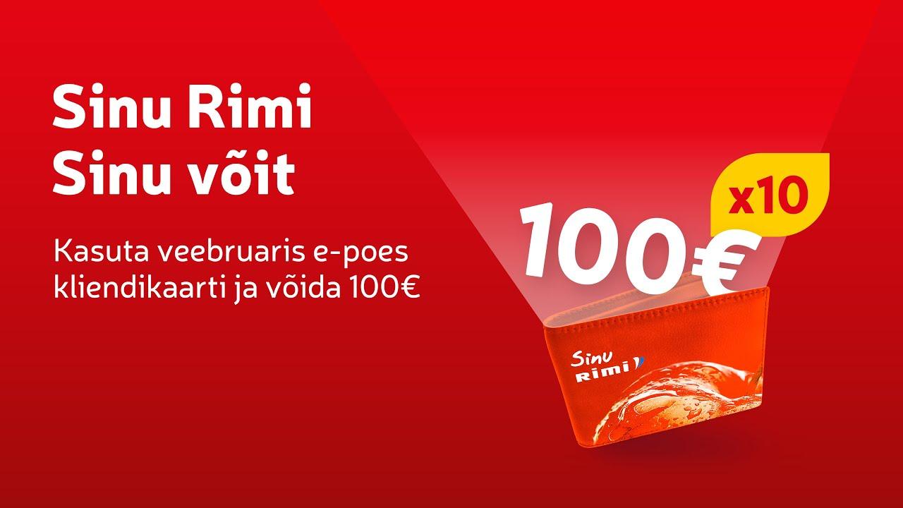 🙌Võida 100€ Rimi e-poe krediiti
