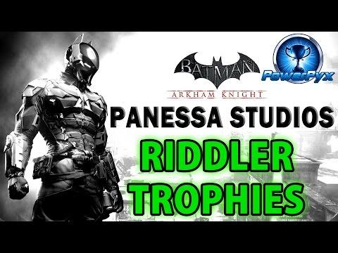Batman Arkham Knight - Panessa Studios - All Riddler Trophy Locations