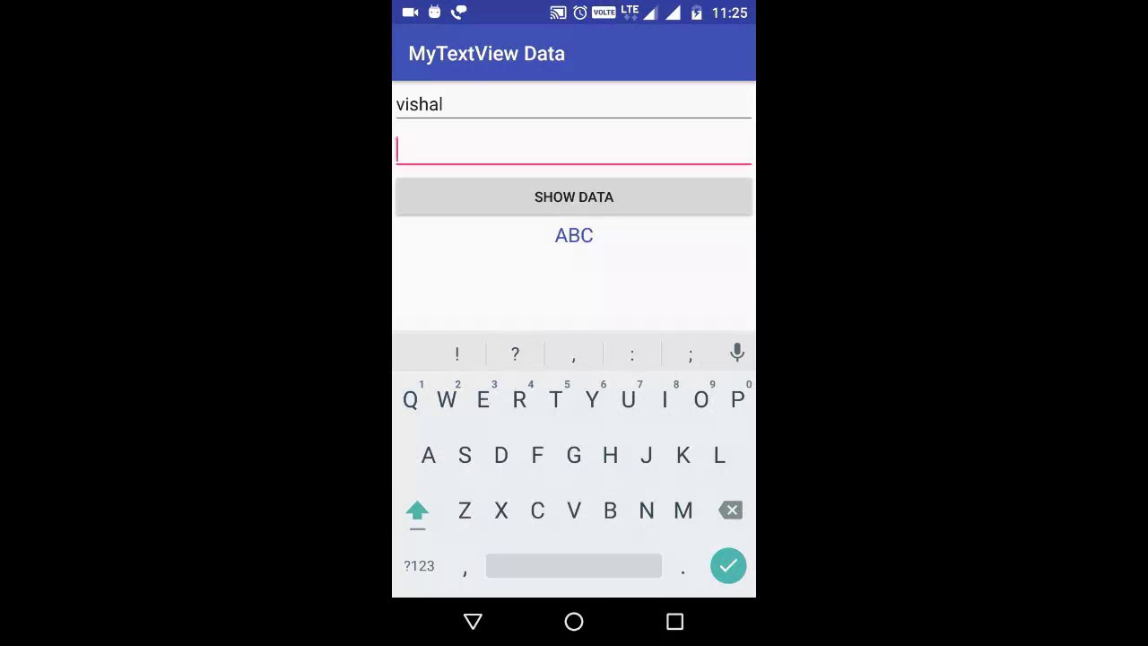How to Show Data in TextView on Button Click Android 2017