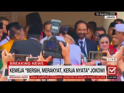 Kemeja 'Bersih, Merakyat, Kerja Nyata' Jokowi , Pilpres 2019