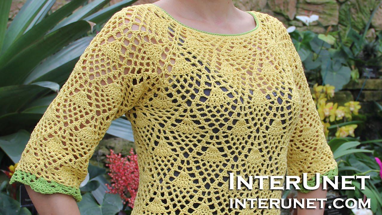 How to crochet a raglan sleeve sweater using pineapple stitch how to crochet a raglan sleeve sweater using pineapple stitch part 3 of 3 youtube bankloansurffo Gallery