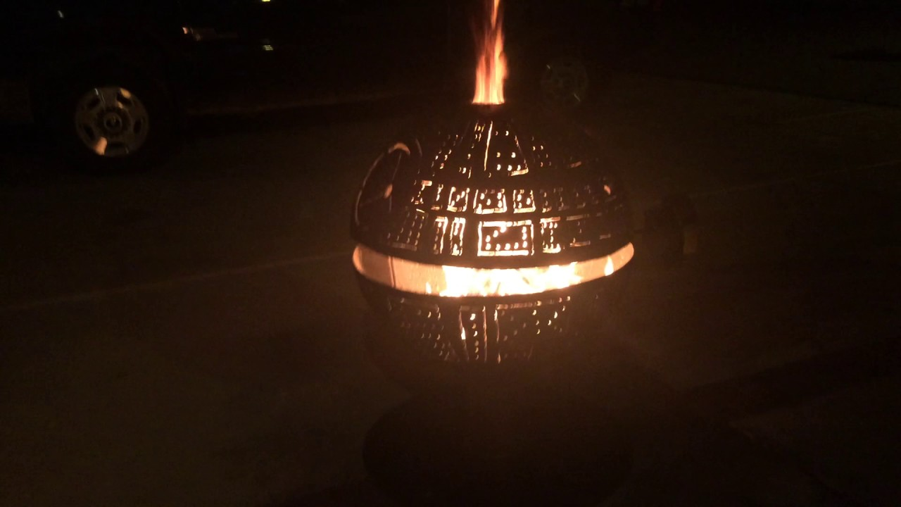 Star Wars Death Star Fire Pit - YouTube