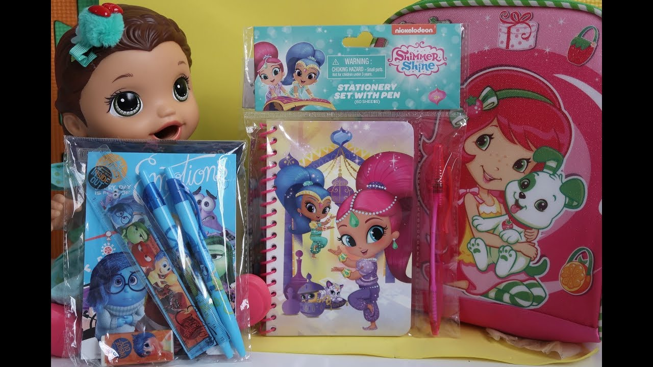 Material Escolar 2018 Baby Alive Shimmer And Shine