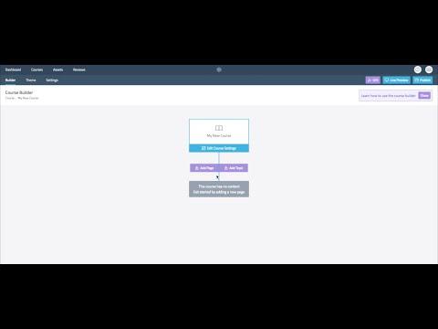 The Evolve Course Builder - Advanced Guide