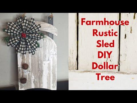 Dollar Tree DIY Farmhouse Sled