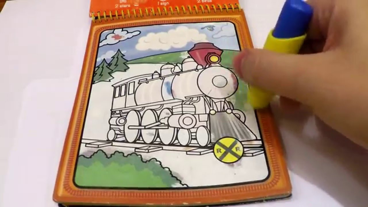 WATER WOW! Water Coloring Book For Children! Let Us Color A Train ...