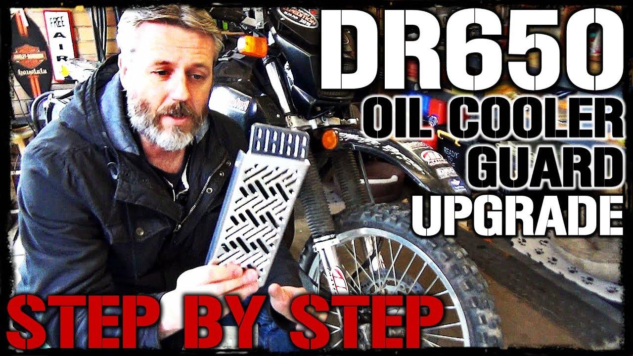 DR650 Oil Cooler Guard Upgrade & Installation!
