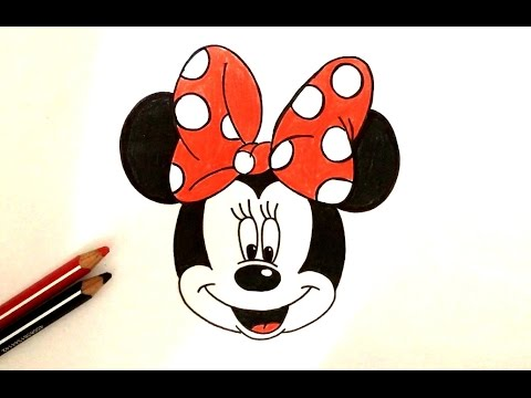 How To Draw Minnie Mouse Disney