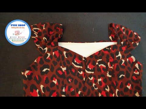 Hướng Dẫn Cắt May Áo Cúp Ngực Tay Nơ Đồ Bộ Mặc Nhà, Ở Nhà Với TYSU SHOP