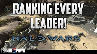 Ranking Every Halo Wars 1 Leader!