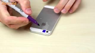 ультрафиолетовая вспышка на телефоне