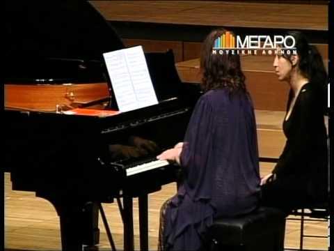 Martha Argherich - Dora Bacopoulos playing Hatzidakis
