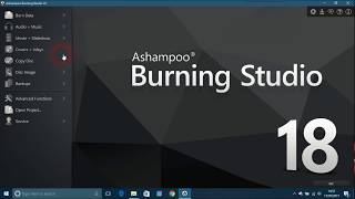 Overview of Ashampoo Burning Studio 18