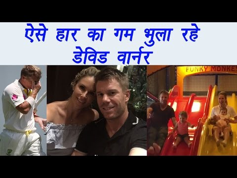 David Warner enjoys with wife and daughter after Bengaluru defeat, watch video