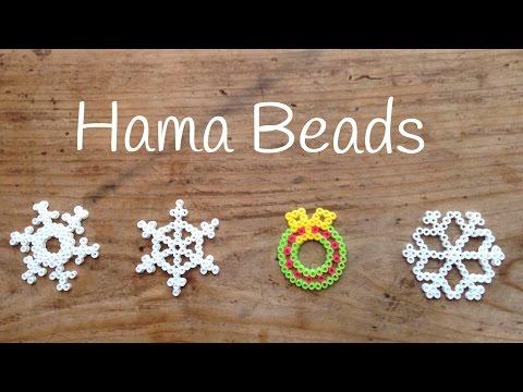 Adornos navideños paso a paso, aprende a hacer una corona de hama beads