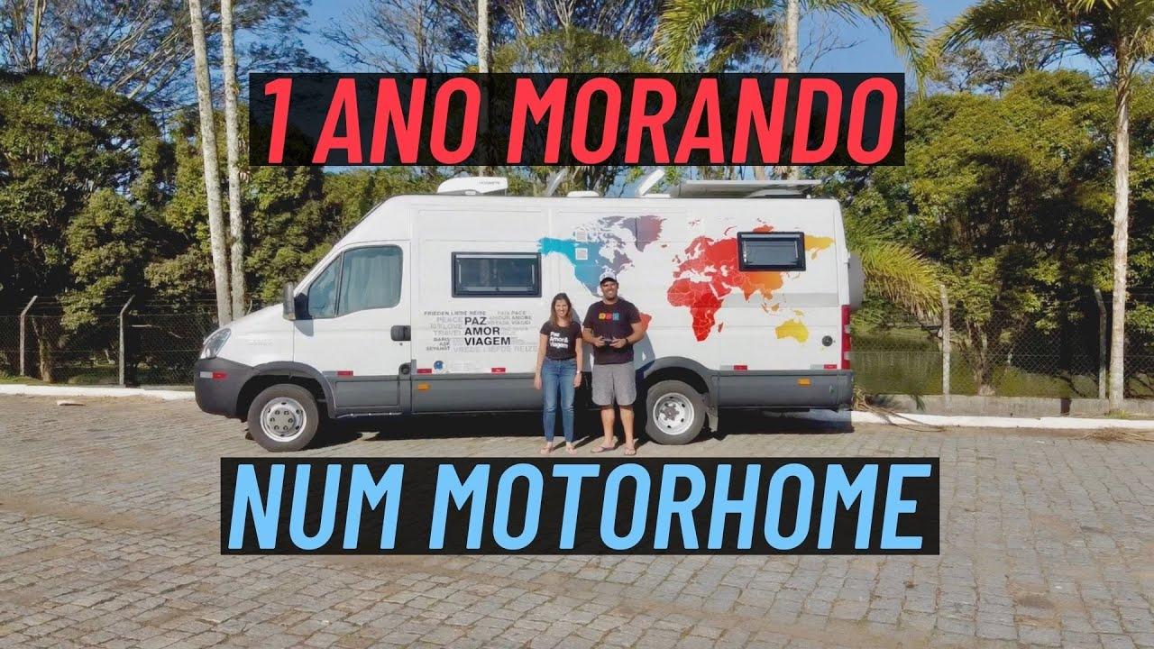 CASAL COMPLETA 1 ANO MORANDO EM UM MOTORHOME E VIVENDO NA ESTRADA | Paz, Amor e Viagem
