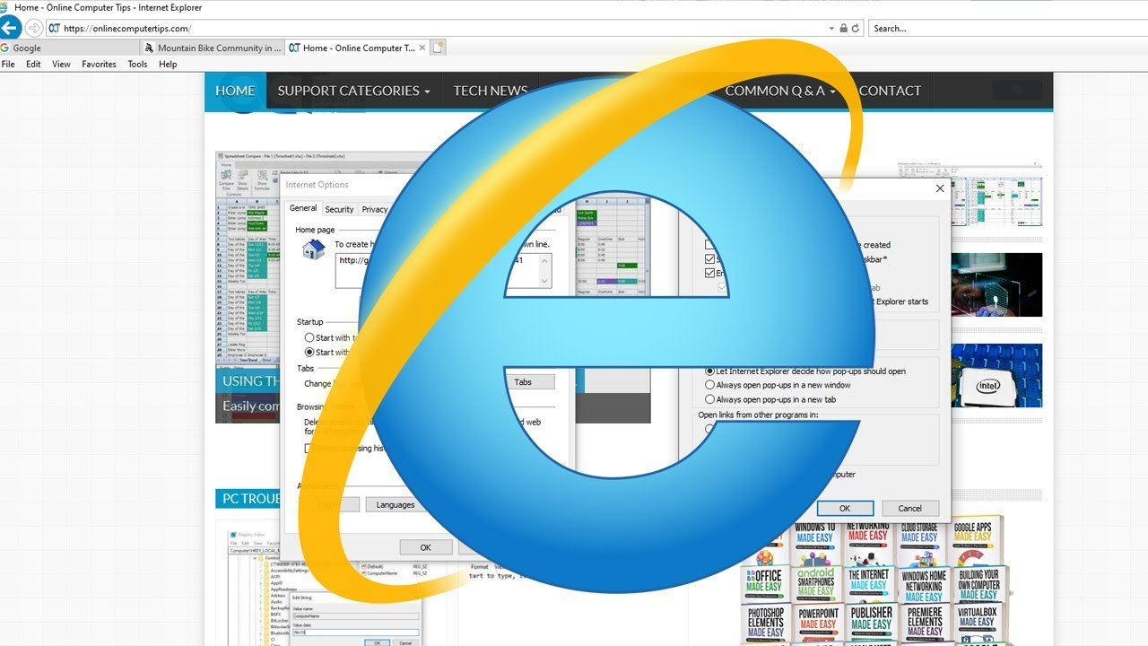 Make New Tabs in Internet Explorer Open your Homepage