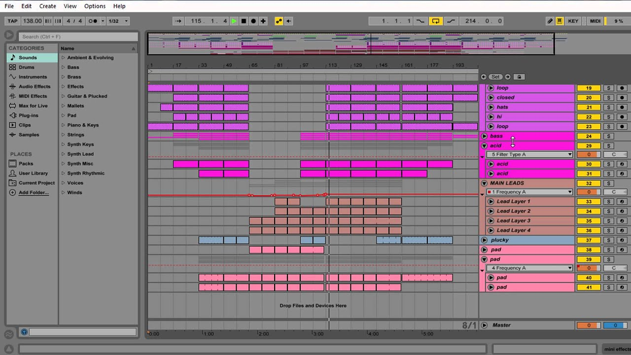how to find bpm of a song in ableton