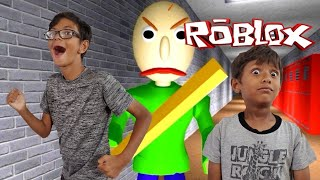 PLAYING IN BALDI'S SCHOOLHOUSE ESCAPE IN ROBLOX