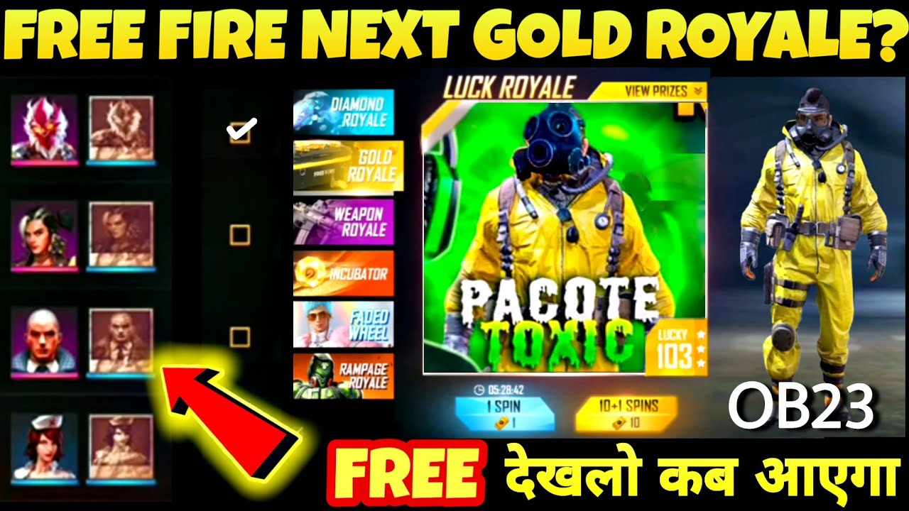 FREE FIRE NEW EVENT 2020 | NEXT GOLD ROYALE | OB23 UPDATE FREE FIRE DATE | FREE FIRE NEW UPDATE 2020