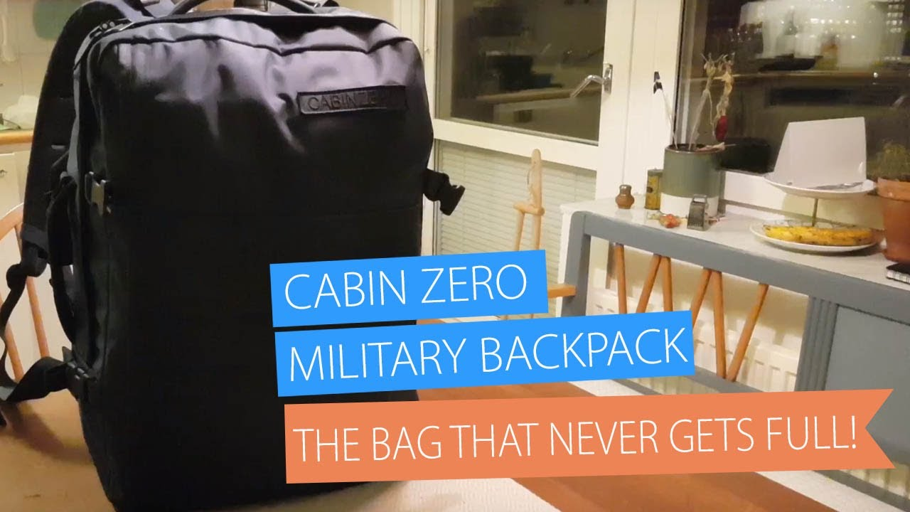 wholesale online cheaper new arrival Cabin Zero Military 44L for Grocery Shopping - What's in my bag?