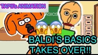 BALDI'S BASICS TAKES OVER !!! | YouTube for kids | TAPII's ANIMATION