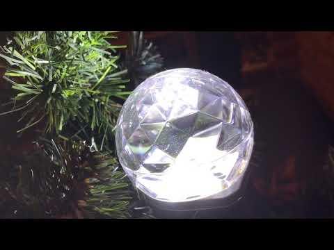 LED light show projection kaleidoscope on a Christmas tree