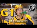 Colorado Avalanche vs Nashville Predators. 2018 NHL Playoffs. Round 1. Game 1. 04.12.2018. (HD)