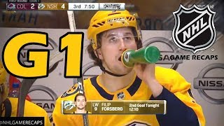 Colorado Avalanche vs Nashville Predators. 2018 NHL Playoffs. Round 1. Game 1. 04.12.2018. (HD)