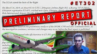 #ET302 Ethiopian Boeing B737 MAX | Official Preliminary Report thumbnail