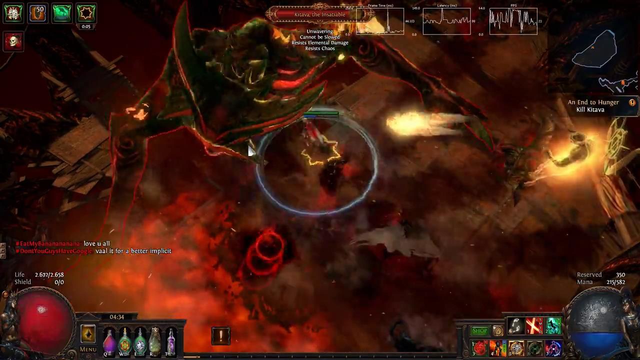 Path Of Exile Duelist Life Leech Build ACT10 KITAVA BOSS FİGHT