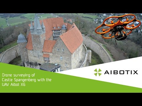 Drone surveying of Castle Spangenberg with the UAV Aibot X6