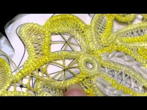Как сделать тонкое кружево паутинку иголкой с ниткой