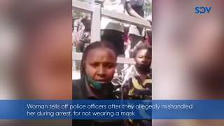 ''I know my rights'' Woman tells off police officers after allegedly mishandling her during arrest