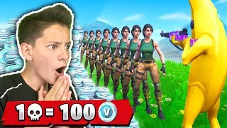 SHOPPO 100 V-BUCKS EVERY KILL of the MOST FORTE PLAYER in the WORLD!! - Fortnite ITA