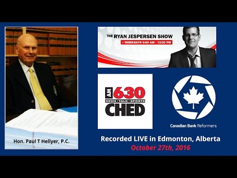 Paul Hellyer - LIVE on Edmonton Radio