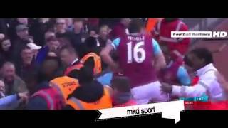 Andy Carroll Hattrick Goal - West Ham vs Arsenal 3-2 (2016 09/04/2016