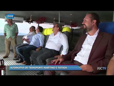 Alternativa de transporte marítimo é testada em Florianópolis