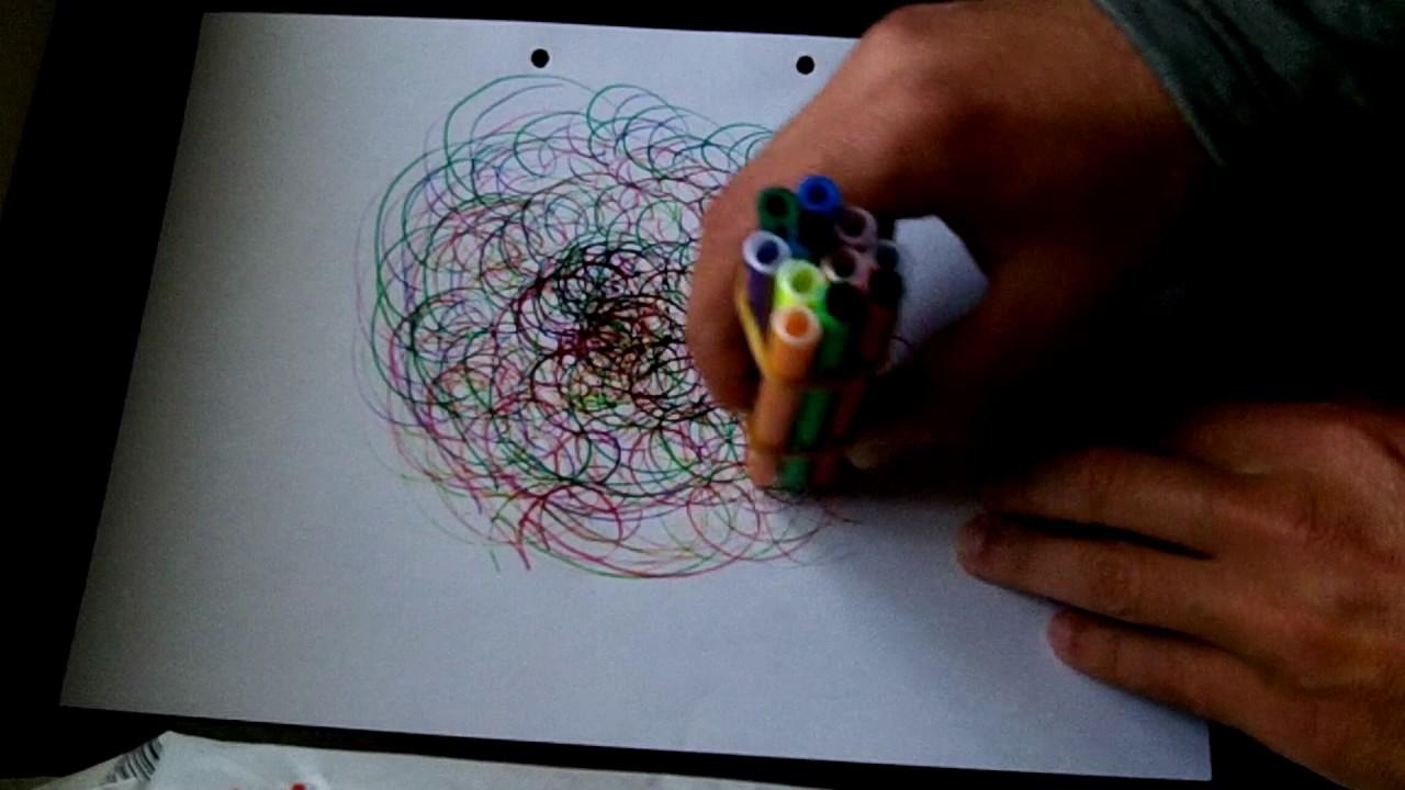 Como Fazer Um Desenho Abstrato Em Poucos Segundos Youtube