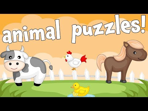 Farm Animals! An Animal Puzzle Game for Preschoolers and Toddlers