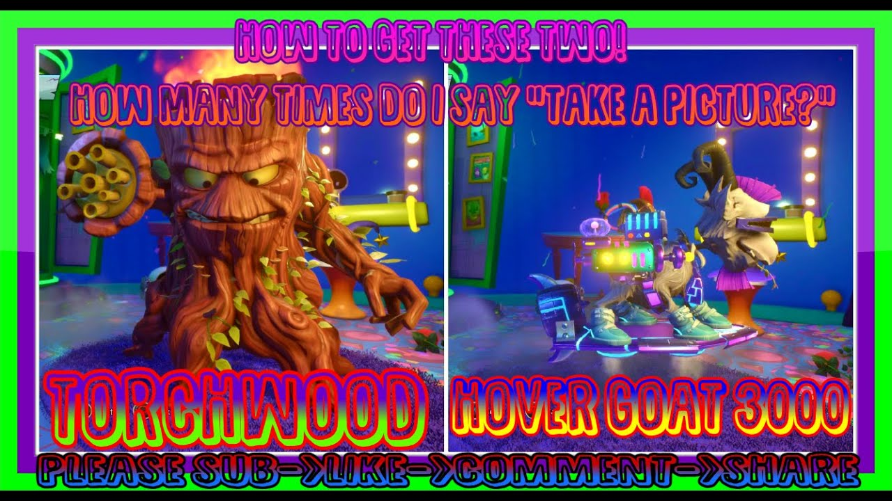 How to get the Torchwood and Hover Goat 3000! Plants vs Zombies Garden  Warfare 2!