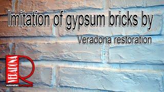 Brick imitation - gypsum, Imitace cihlové zdi ze sádry DIY