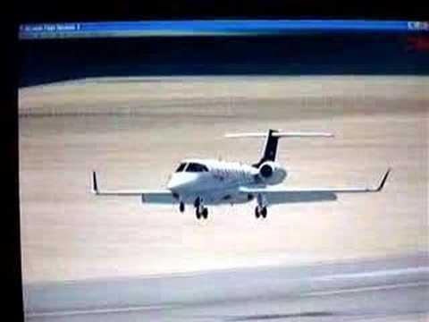 FSX Netherland Antilles Learjet Landing