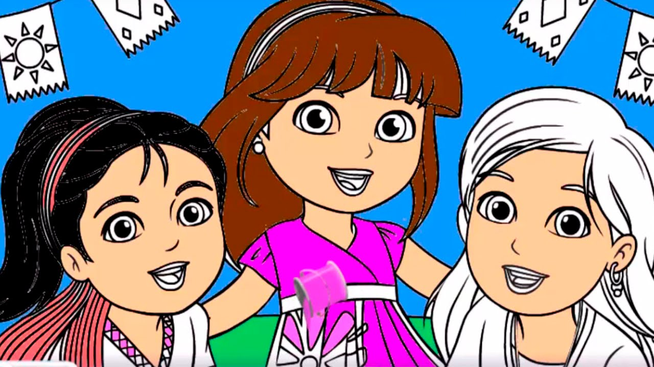 Coloring Dora and Friends | Dora & Friends Coloring Pages ... | 720x1280