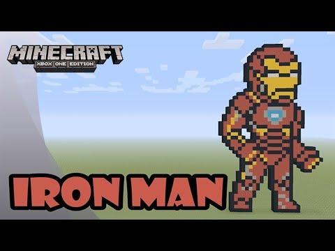 Minecraft: Pixel Art Tutorial And Showcase: Iron Man (Avengers: Infinity War)